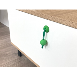 Úchytka knopka NARNIA / Zelená
